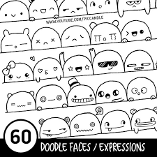 doodle 4 blank sheet 60 doodle faces expressions printable practice sheets