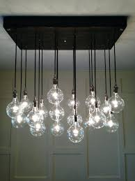 Hanging Bulb Chandelier Chandeliers Beautiful Rectangle Chandelier For Ceiling Light