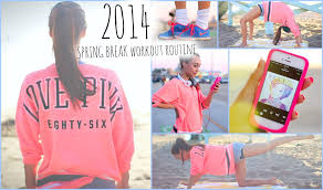 get a spring break body my workout routine youtube