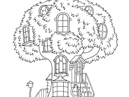 tree house coloring pages coloring page for kids