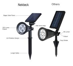 nekteck solar powered garden spotlight outdoor spot