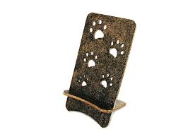 phone stand wood gold desk accessories for women iphone holder