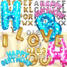 birthday party supplies birthday party decorations kids alphabet letter number foil