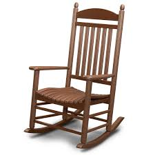 Old Rocking Chair On Porch Polywood Reg All Weather Jefferson Slat Rocker Outdoor
