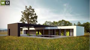 flat roof house luxury l shaped bungalow with a flat roof and a swimming pool