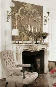 French Country Fireplace - how to decorate your fireplace mantel shelves interiors and linens