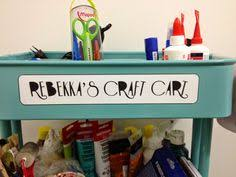 love the rolling raskog carts from ikea for craft room