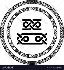 seamless ornamental knot frames royalty free vector image