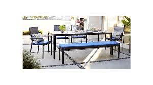 alfresco ii grey rectangular dining table crate and barrel