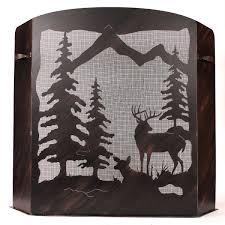 rustic fireplace screens with bear moose u0026 wildlife designs