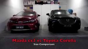 toyota yaris vs corolla comparison mazda cx3 size comparison with toyota corolla