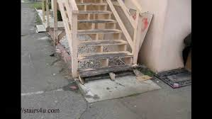how to build wood steps prefab outdoor stairway railings eclectic