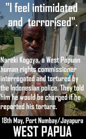 Indonesian Meme - west papuan human rights commissioner tortured and threatened by