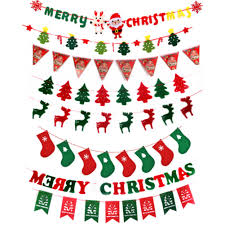 online shop christmas hanging decorations pull flags pennant diy