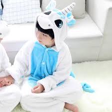 halloween costume unicorn wedtrend children pink and blue unicorn onesies kids girls