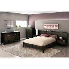 headboard with built in bedside tables south shore gravity ebony collection with outstanding headboard