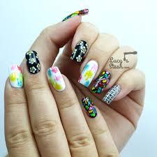 funky mix u0026 match wah style nail art lucy u0027s stash