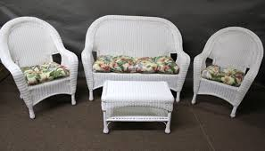 Patio Chairs With Ottoman Furniture Interesting Wicker Chair Cushions For Inspiring Outdoor
