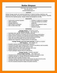 Warehouse Material Handler Resume Transportation Operations Manager Sample Resume Easy Write 12