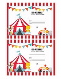 fill in birthday invitations printable circus invitations