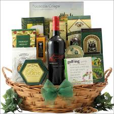 wine and gift baskets norman estates shiraz golf wine gift basket