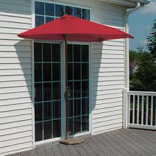 4 Foot Patio Umbrella Shop Blue Brella Half 4 Ft Patio Umbrella At