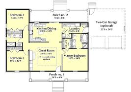 1 story country house plans country style house plans 1629 square foot home 1 story 3