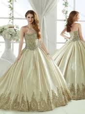 champagne quinceanera dresses