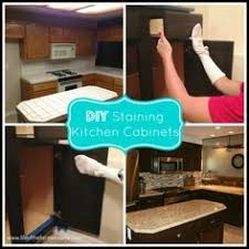 Easiest Way To Refinish Kitchen Cabinets Staining Oak Cabinets An Espresso Color Diy Tutorial Espresso