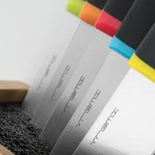 vremi 6 piece knife block set with knives kitchen knife set with