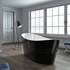freestanding bathtub black