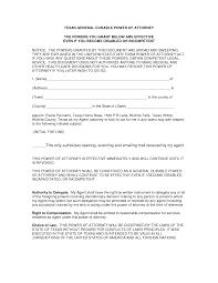 Texas General Durable Power Of Attorney attorney 18 lawyer u0027s information portal