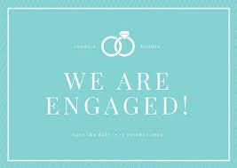 engagement announcement cards engagement announcement cards aqua bordered engagement announcement