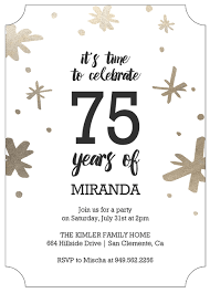 informal invitation birthday party 75th birthday invitations 50 gorgeous 75th party invites