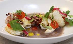 cuisiner les encornets recette de ceviche d encornet par juan arbelaez