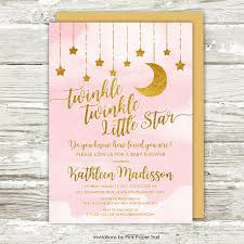 twinkle twinkle baby shower invitations moon and baby shower invitations hnc