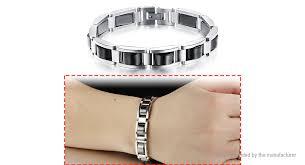 health bracelet titanium images 7 67 men 39 s titanium hematite magnetic pain relief therapy health jpg