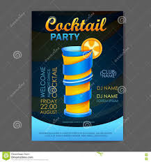 disco cocktail party poster 3d cocktail design stock photo
