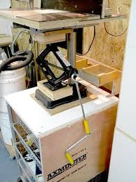 Diy Drill Press Table by Drill Press Station Table Lift Fence Vise Drum Sander By