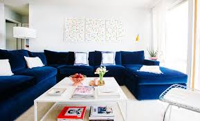 Different Style To Decorate Home With Blue Velvet Sofa - Home decor sofa designs