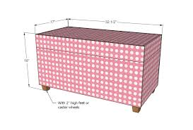 Free Wooden Toy Box Plans by Ana White Upholstered Toybox Ottoman Diy Projects