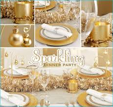 New Years Eve Table Decorations Ideas by Gorgeous Gold Centerpiece And Table Setting Party Ideas Gateway