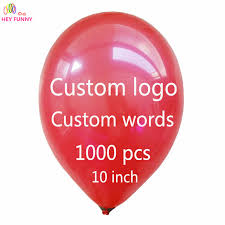 personalized balloons 1000 pcs personalized custom balloons logo words free design free