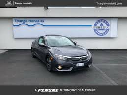 2018 new honda civic coupe ex t cvt at triangle dealers serving