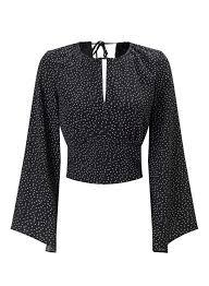 keyhole blouse spot sleeve keyhole blouse shirts blouses clothing