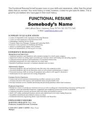 Functional Resume Template Sales Charming Resume Examples For Retail