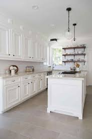 Kitchen Backsplash With White Cabinets Kitchen Floor With White Cabinets Pics Of Tile