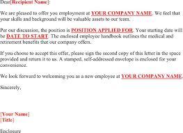 job offer letter sample download free u0026 premium templates forms