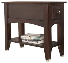 Power Chairside End Table Riverside Furniture Metro Ii Chairside End Table In Ebony Brown