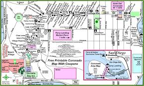 San Diego City Map by San Diego Coronado Map